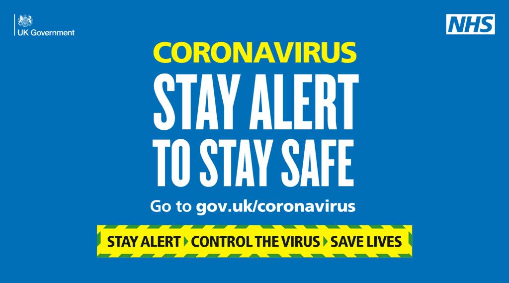 Coronavirus Stay Alert To Stay Safe Safe